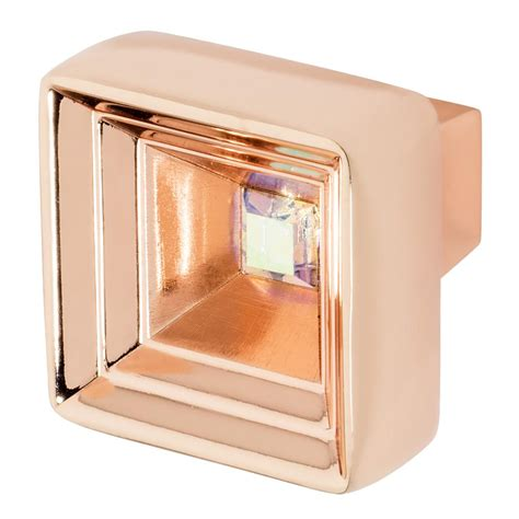 rose gold cabinet hardware wisdom stone clubhouse 1 5 16 in rose gold with pink