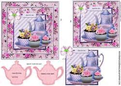 Romantic Lamp, Shoes,purse and Roses Quick Card