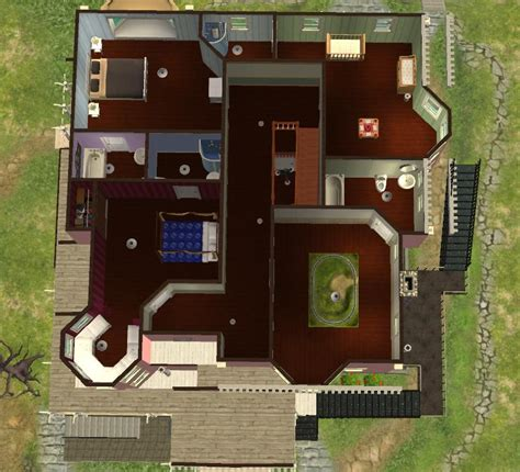 Coraline House Floor Plan Mod The Sims Pink Palace From Coraline