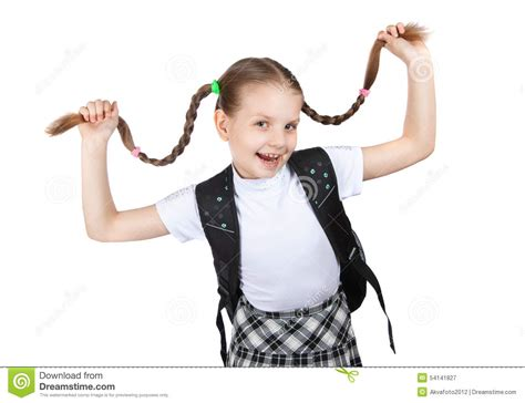 Keeps Herself by Smiling Keeps Herself Pigtails Stock Image