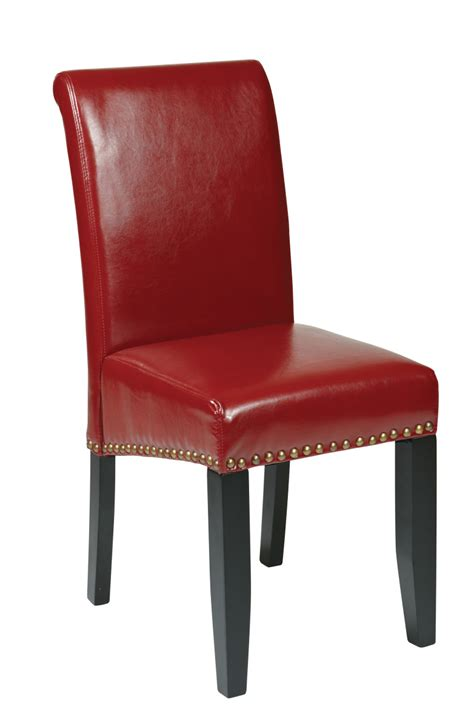 Leather Parsons Chair by Crimson Bonded Leather Parsons Chair Ergoback