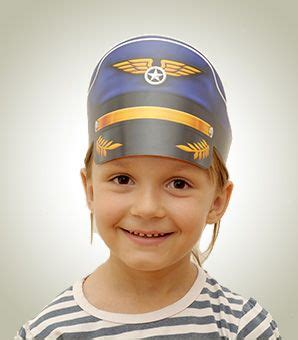 How To Make A Paper Pilot Hat - 19 best airport play images on pretend