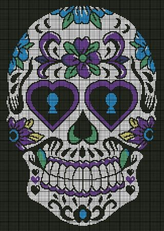 Sugar Skull Crochet Pattern