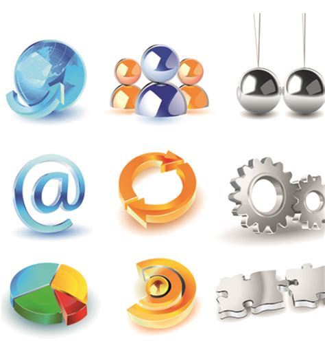 3d logo design free different 3d logos design elements vector 04 welovesolo