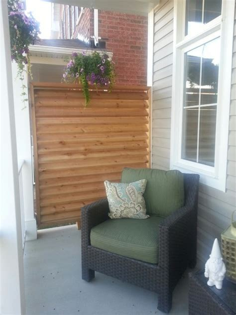 Front Porch privacy screen   Contemporary   Porch