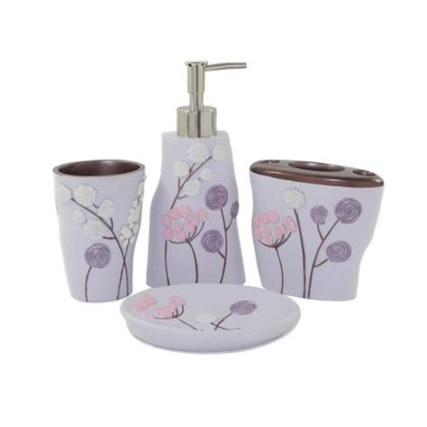 purple bathroom accessories will brighten up your bathroom