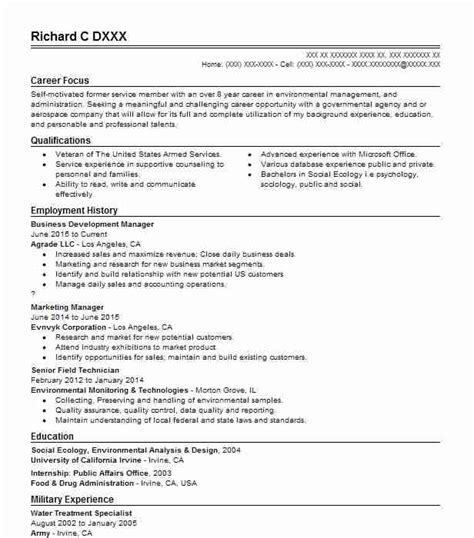 Resume Exles Environmental Science Green Resume Exles Sles Livecareer