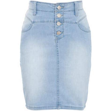 light blue denim pencil skirt from new look epic wishlist