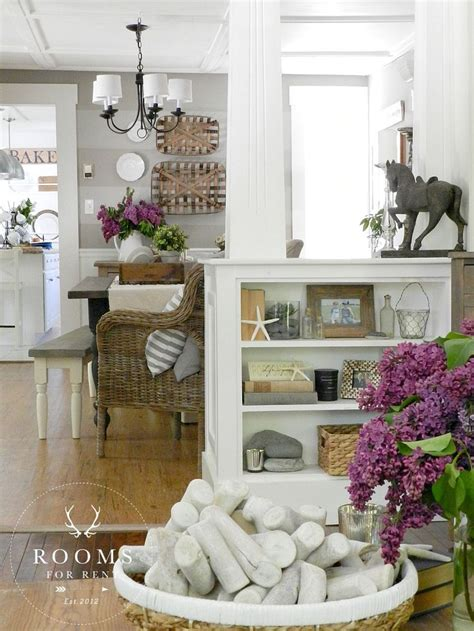 decorating blogs southern white columns half wall with built ins rooms for rent