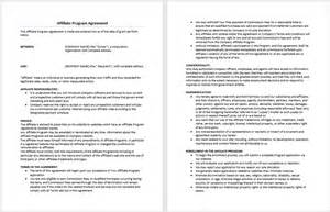affiliate program agreement template microsoft word