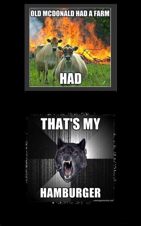 insanity wolf meets evil cows