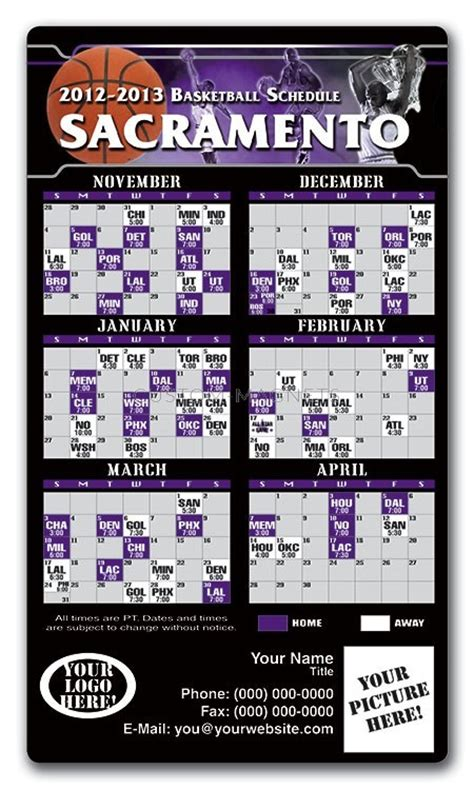 printable kings schedule sacramento kings basketball team schedule magnets 4 quot x 7