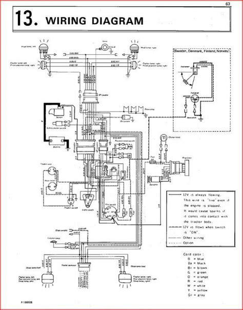 kubota l175 ignition switch wiring diagram kubota tractor