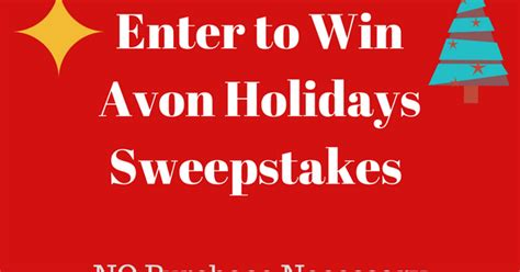 New Sweepstakes To Enter - avon holiday sweepstakes buy avon online view new