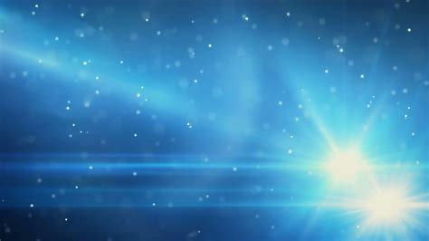 blue light flares and particles loop background motion