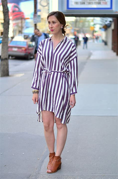 how to dress style striped shirt dress