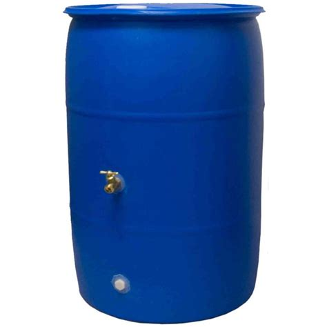 ideas 55 gal big blue rb55 blue the home depot