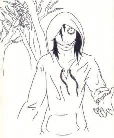 Jeff The Killer Drawing Outline by Jeff The Killer In The Wood By Yohansdark On Deviantart