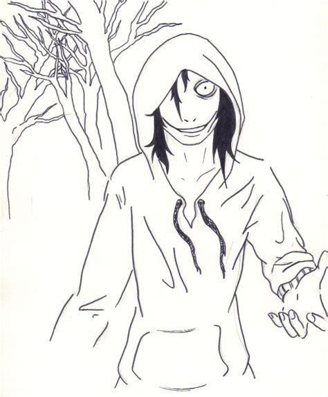 imagenes de jeff the killer para dibujar a lapiz facil jeff the killer in the wood by yohansdark on deviantart