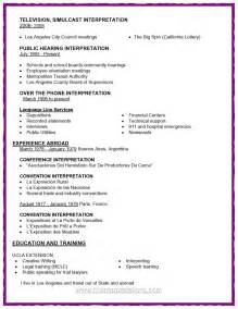 Interpreter Resume Sample Federal And California Court Certified Spanish Interpreter