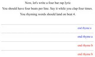 lyric writing template silent cacophony a lesson plan on the structure of rap songs