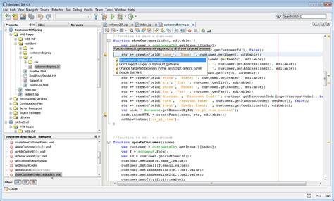 tutorial netbeans javascript top 8 ides for javascript development and debugging