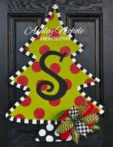 christmas tree door hanger ashley nichole designs