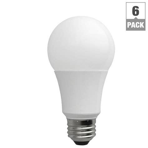 60 Watt Led Light Bulb Tcp 60 Watt Equivalent Daylight 5000k A19 Non Dimmable Led Light Bulb 6 Pack La1050knd6