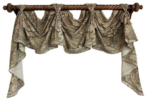 Victory Swag Valances sedona victory swag sand 3 scoop traditional valances by rlf home