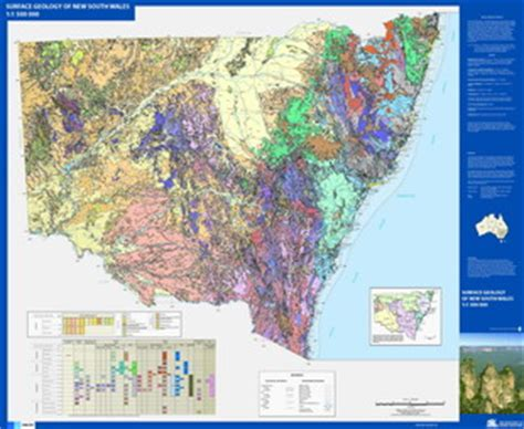 1:1 500 000 surface geology of new south wales nsw