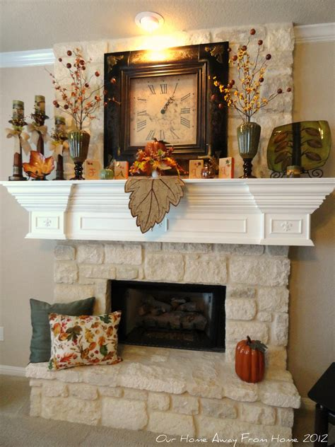 decor for fireplace our home away from home our fall mantle 2012