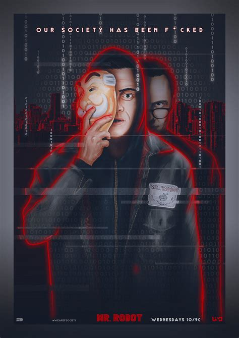 hackers movie poster by raging lepricon on deviantart mr robot season 2 0 posterspy entry by sahinduezguen