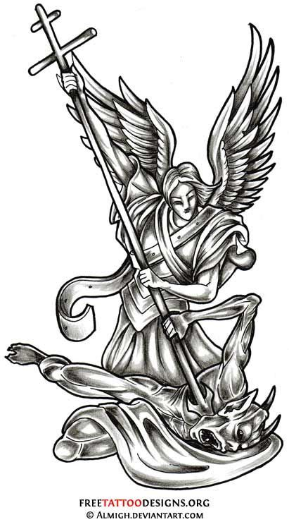 dad angel tattoo designs tattoos wings guardian and st michael