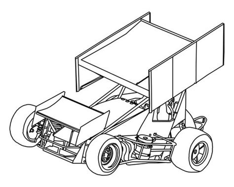 sprint car coloring page sprint car zone coloring pages coloring pages