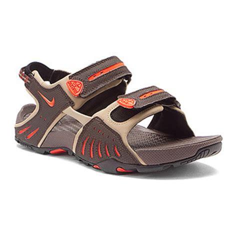 nike acg sandals acg santiam 4 mens travel sandals black color black