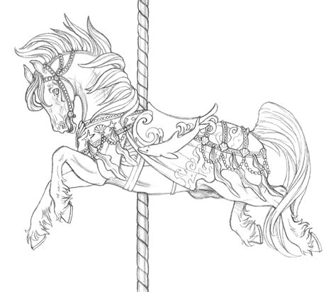 coloring pages of carousel horses carousel de neptune by artistmeli on deviantart