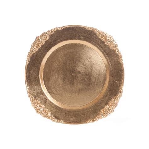wholesale charger plates gold vintage charger plates bulk 24 plates 402570 gold