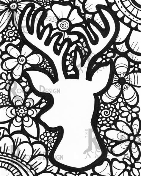 deer coloring page for adults 30 best color pages images on pinterest coloring books