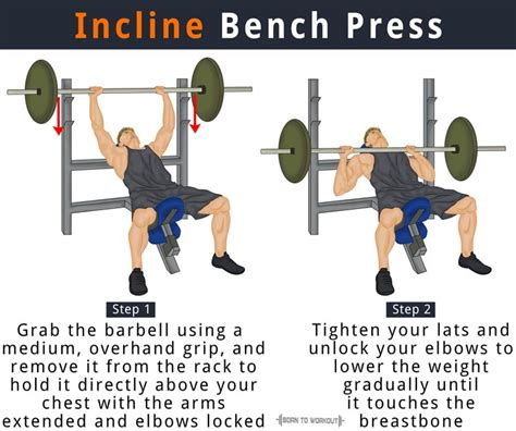 incline bench barbell press incline bench press how to do benefits forms muscles