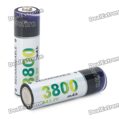 Istimewa Rechargeable Battery Aa Ni Mh 3800mah 1 2v Batterai Charger rechargeable 1 2v quot 3800mah quot aa ni mh batteries pair free shipping dealextreme