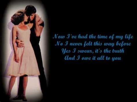 dirty dancing time of my life lyrics bill medley jennifer warnes i ve had the time of my