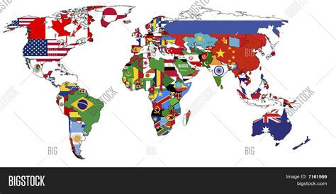 world map with countries flag political map world image photo bigstock