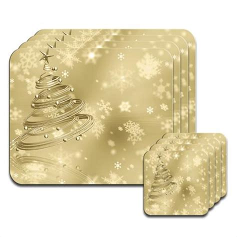 Gold placemats   Placemats : Mince His Words