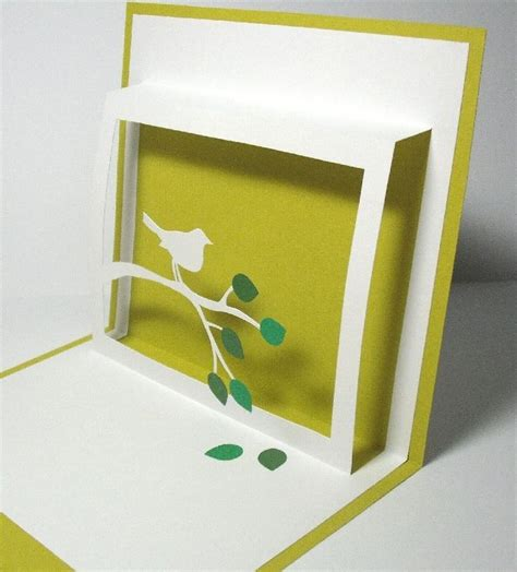 Pop Up Bird Card Template by Pop Up Cards You Could Probably Add A Message From The