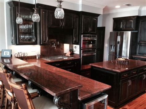 Walsh Residence Red Dragon Granite Counter tops (Done by
