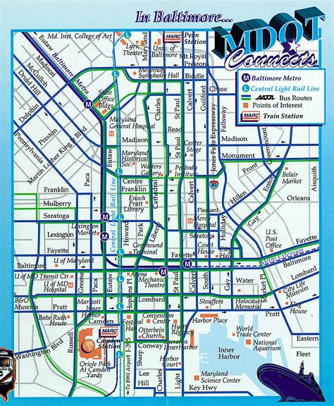 printable map of baltimore maps update 21051488 baltimore tourist map