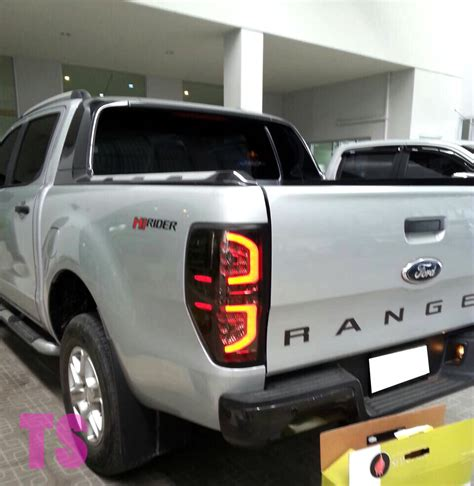 Black Lens Led Light L For Ford Ranger T6 Wildtrak