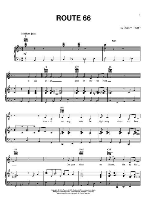 theme music route 66 route 66 sheet music music for piano and more