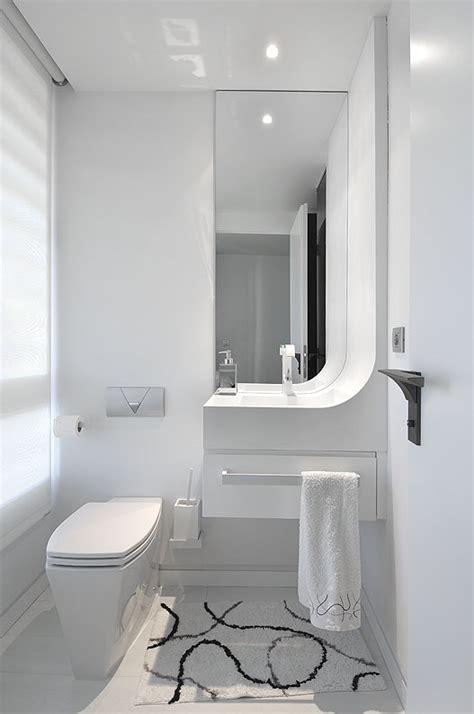 White Small Apartment Bathroom Interior Ideas Apartment Remodel Design By A Cero Architecture