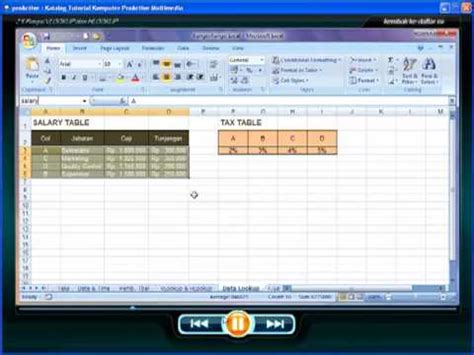 tutorial microsoft excel 2007 vlookup cd tutorial microsoft excel 2007 fungsi vlookup dan